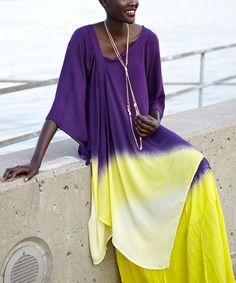 Sunny Plummy Asymmetrical Global Groove Tunic - Women & Plus
