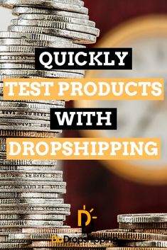Learn how to quickly test dropshipping products on your dropshipping store! Don't waste your hard earned money! Learn more now! E Commerce Business, Online Business, Legit Paid Surveys, Work Goals, Drop Shipping Business, Earn Money Online, Finance Tips, Hard Earned, Way To Make Money