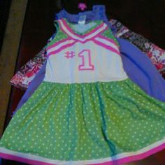 3 Toddler Girls Dresses 2T - All for 10!! Green/White - Gymboree, Purple The Children's Place, & Paisley - Pinky Pinky Dresses Midi
