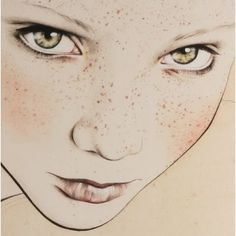 I think this might be by Kelly Thompson, a New Zealand fashion illustrator? Either way, gorgeous eyes.