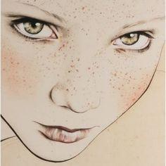 Por amor al arte: Kelly Thompson Art And Illustration, Drawing Sketches, Art Drawings, Portrait Au Crayon, Kelly Thompson, Arte Sketchbook, Art Graphique, Face Art, Art Tutorials