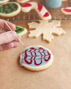 How To Create a Marbled Effect When Decorating Cookies
