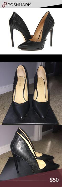 L.A.M.B Nydia Black Pumps LAMB Nydia Leather Black Pump with Detail. 3 inch heel. Worn Twice L.A.M.B. Shoes Heels