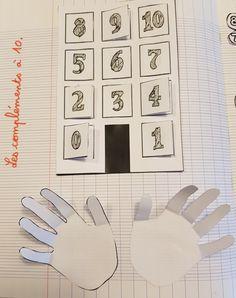 Les compléments à 10: leçon à manipuler - L'école des Juliettes Math Design, Cycle 3, Logo Nasa, Multiplication, Jouer, Centre, Notebook, Kids, Preschool