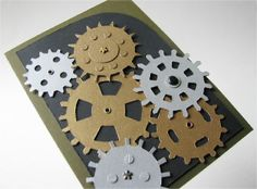Cogs Interactive Greeting Card