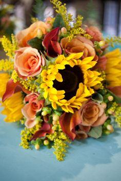 sunflower bouquet, good for autumn