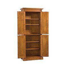 Home Styles Americana Solid Hardwood Cottage Oak Finish Pantry Cabinet Wood