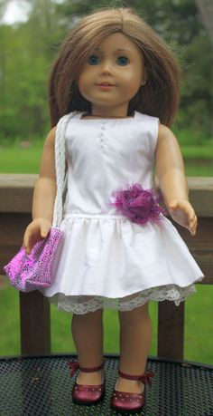 American Girl Doll ClothesRuffled Silk by buttonandbowboutique, $24.00