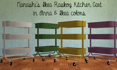 Nanashi's Ikea Raskog Kitchen Cart in Anna's & Ikea Colors  DOWNLOAD / ALT DOWNLOAD  Credits to Nanashi for mesh, Hafiseazale for color actions