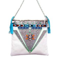 handmade embellished leather bag by greeneyerocks | notonthehighstreet.com