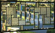 Gorgeous In Clears 2 Stained Glass Window Panel by Lindaleeglass, $97.00