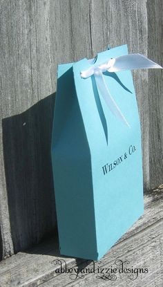 Tiffany Blue Wedding. Perfect color and would be a cute idea for bags for the candy table.