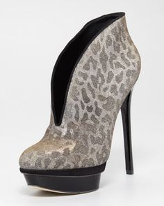 Santa Baby!   Fortusa Metallic Leopard Bootie by B Brian Atwood at Neiman Marcus.