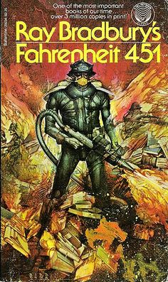 Since Ray Bradbury's novel Fahrenheit 451 has sold more than 10 million copies. While the science-fiction story is set in a dystopic world withou . Julie Christie, Fahrenheit 451, Science Fiction Books, Pulp Fiction, Fiction Novels, Mystery, Roman, Back In The 90s, Best Book Covers