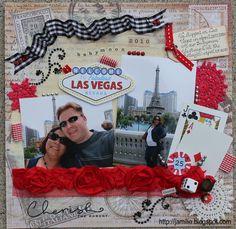 Las Vegas scrapbook layout