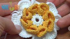 Folded Petal Crochet Flower Tutorial 22
