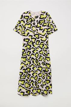 Patterned Dress - Pink/leopard print - Ladies   H&M US 4 - $30