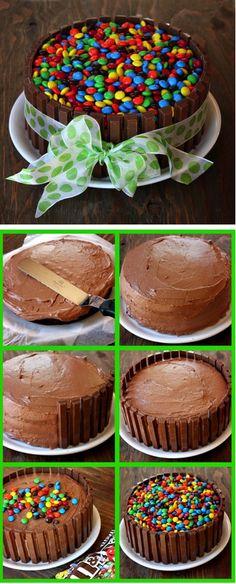 Kit Kat Cake Tutorial!
