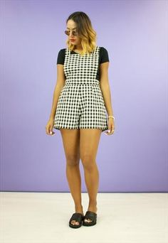 New Dungaree Shorts Playsuit x House of Jam
