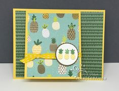 Fruit Basket stamp set with products from the Tutti Frutti bundle by Stampin' Up! in the Occasions catalog used to create this easy special fold card. Video on website from Stampin' BJ. Tutti Frutti, Fancy Fold Cards, Folded Cards, Birthday Cards For Women, Cute Fruit, Bird Cards, Card Tutorials, Stamping Up, Stampin Up Cards