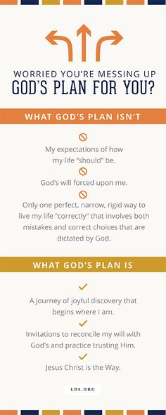 You're Not Messing Up God's Plan for You | LDS.org Blog