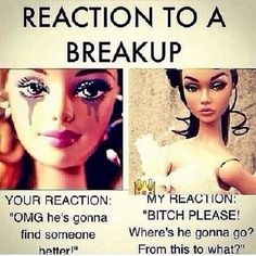 Reaction to a breakup