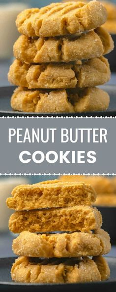peanut butter cookies are soft and chewy and packed with peanut butter flavor. This will soon be your go-to peanut butter cookie recipe! Delicious Cookie Recipes, Easy Cookie Recipes, Yummy Cookies, Baking Recipes, Best Peanut Butter Cookies, Peanut Butter Recipes, Köstliche Desserts, Dessert Recipes, Incredible Recipes