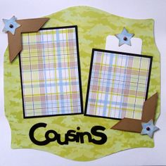 COUSINS premade 12x12 scrapbook pages by lovethatscrap on Etsy, $8.00