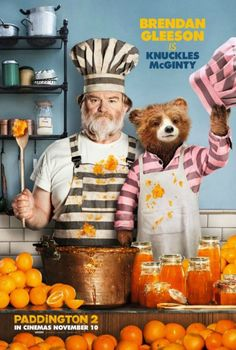 Brendan Gleeson is Knuckles McGinity in Paddington 2. Want to cook just like Paddington in the movie? You can find several Paddington-inspired recipes at http://www.celluloiddiaries.com/2018/01/paddington-bear-recipes.html