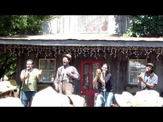 """Carolina Chocolate Drops performing """"Read 'Em John"""" at the Floydfest Workshop Porch.  I was in the front row. :)  They are incredibly smart and talented."""