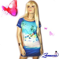 "Tunika / Minišaty \""Hawai\"" Tie Dye, Bodycon Dress, Dresses, Women, Fashion, Tunic, Vestidos, Moda, Body Con"