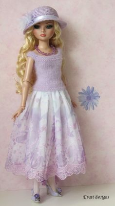 OOAK Lilac Outfit with Accessories for ELLOWYNE WILDE by *evati* via eBay SOLD 5/4/14   $76.51