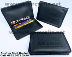 Custom card holder with faux leather, the size and design can be customized according to your need. Name Card Holder, Custom Cards, Name Cards, Money Clip, Pure Products, Wallet, Leather, Design, Personalized Cards