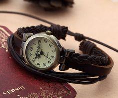 Lady fashion weave wrap around brown leather di PendantDesigner, $9.99