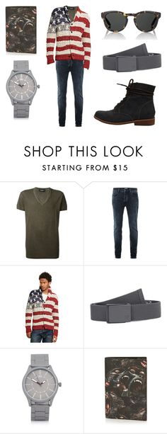 """Deer FR Water Blue"" by fakefur on Polyvore featuring Dsquared2, Topman, Ralph Lauren, Hurley, River Island, Givenchy, Barton Perreira, men's fashion y menswear"