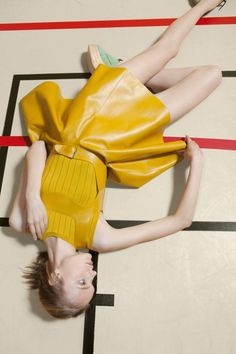 Carven's Spring/Summer 2012 Campaign, photographed by Viviane Sassen features Dutch beauty Nimue Smit.