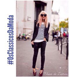 Desde #CocoChanel que popularizou no mundo da moda o #EstiloNavy, elas nunca sairam de moda, e por mais que as coleções e tendências mudem, elas continuam atemporais.  Clássicas que são, vão bem com variados estilos, e podem deixar um visual clássico ou arrojado.  Com um terninho a #CamisetaListrada, ajuda a compor um #LookClássico. Com cores, Microshorts, Saias coloridas ou um bom Jeans e Sandália pesada, terá um look super descolado!  1° postagem #OsClassicosDaModa.