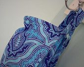 Blue/purple damask nursing cover  #baby shower gift