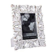 "Whitewash Fleur-De-Lis Frame by Studio Decor® Expressions™, 5"" x 7"""