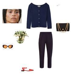 """""""hard out here"""" by pieaah ❤ liked on Polyvore featuring Raquel Allegra, Tory Burch, Chanel, Alexander Wang and Lila Rice"""