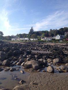 Seaside village of Rockcliffe, Scotland