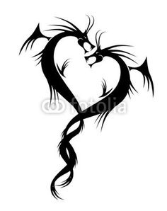 Couple of dragons tattoo .... maybe use one of them for a charm