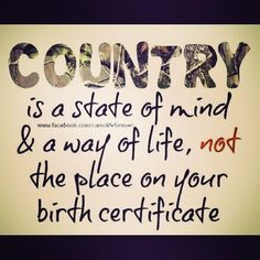 Country must be country wide
