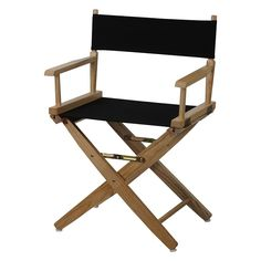 """Casual Home 18"""" Director's Chair, Black"""
