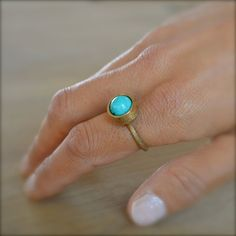 TURQUOISE GOLD RING - the perfect accessory for summertime