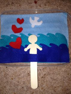 For a take home story bag on baptism - felt set to tell the story of Jesus' baptism.