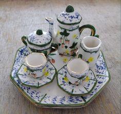 Vintage Handmade Porcelain Mini Tea Set  Home decor  Collectible. $22.00, via Etsy.