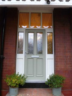 Our custom made timber doors are suited to traditional and modern properties. Handcrafted and finished in our factory, and customised to suit your home.