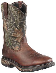 Ariat Workhog Mossy Oak Camo Waterproof Work Boots - Steel Toe available at #Sheplers