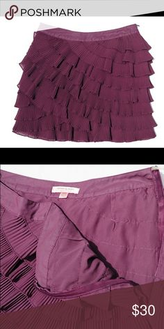 Romeo and Juliet Couture, Purple Mini Adorable purple layered pleated mini skirt. Pictures don't do it justice. Fun and flirty. Perfect for summer and fall transition. Romeo & Juliet Couture Skirts Mini